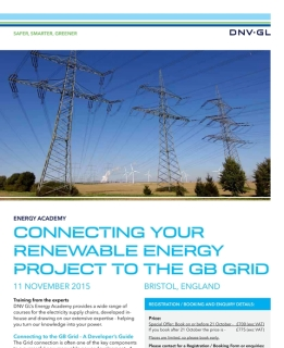 Getting your renewable energy project connected to the GB grid - a developer's guide
