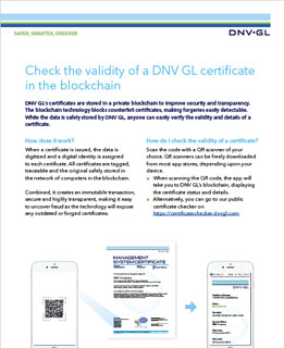 QR code guideline from DNV GL