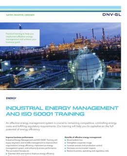 Industrial energy management and ISO 50001 training