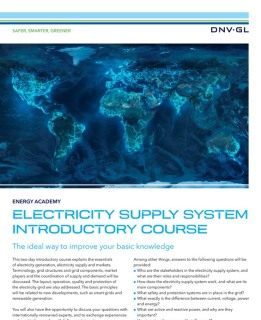 Electricity supply system introductory course